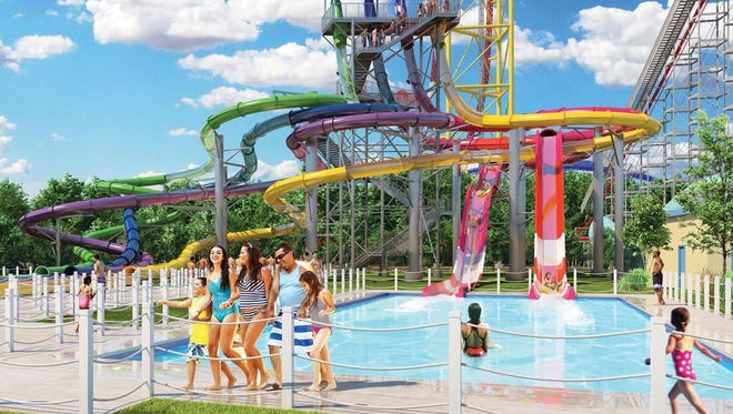 Artist's rendering of the new Cedar Point Shores Water Park scheduled to open next year.