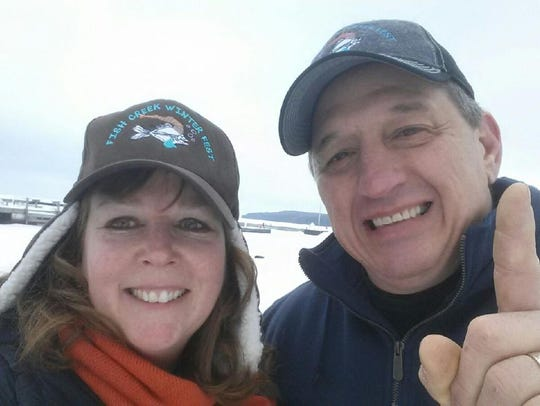 Christy and Dave Foshey during Fish Creek Winter Festival