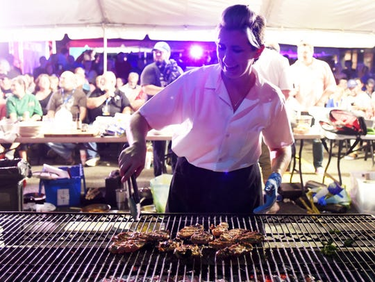 Melissa Brannan, grills in the 2017 Battle for the