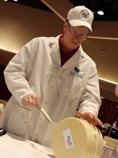 World Cheese Championship Contest judge Randy Swenson,