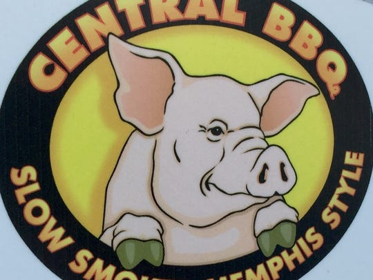 The former Central BBQ sign and logo