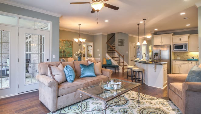 Shown is a model home in  The Grove at Five Oaks, a new section of the established Five Oaks subdivision in Lebanon, where Goodall Homes plans to build 115 villas.