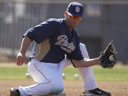 Brockport graduate Andy Parrino played 79 games for the Padres and 52 games for the Oakland A's between 2011 and 2015.