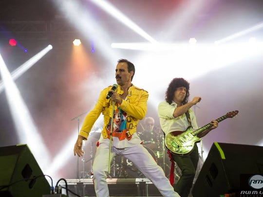 God Save The Queen, the longest-running Queen tribute band, performs Dec. 2, 2017, at Germain Arena in Estero, Florida.