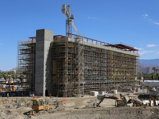 The Kimpton Hotel is the largest structure in the downtown Palm Springs redevelopment project, August 18, 2016.