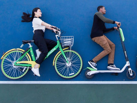 The California-based LimeBike deploys dockless, motorized