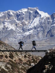 On the Annapurna Circuit in Nepal.