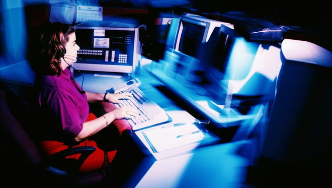 Two of the county's three 911 dispatch centers were off line for about an hour late Aug. 8 and early Aug. 9.