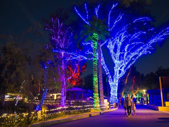 Missed Phoenix ZooLights? Your Last Chance To See It Is This Week - Phoenix Zoo Christmas Lights