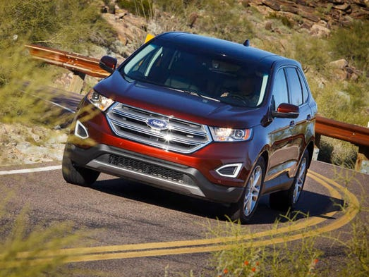 Review ford 39 s new edge suv has space power Ford motor company complaints