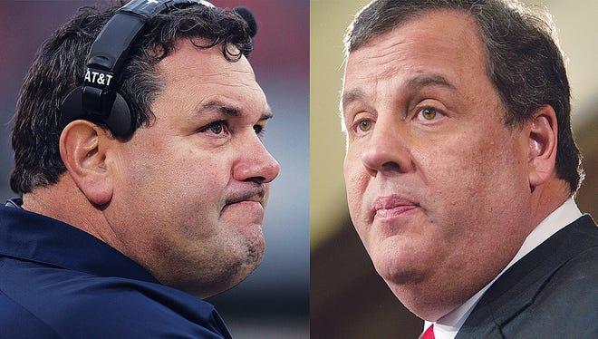Michigan head football coach Brady Hoke and New Jersey Gov. Chris Christie share more than their looks.