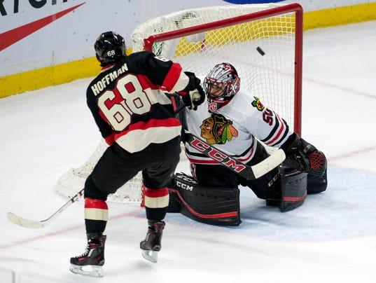 NHL: Chicago Blackhawks at Ottawa Senators