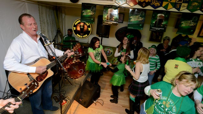 In this file photo, James Gallagher of the band Off the Boat performs at Shenanigan's. James Gallagher & Off the Boat will play traditional Celtic music at Shenanigan's Irish Pub in Ocean City on Friday and Saturday, March 16-17.