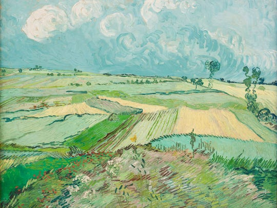 Vincent van Gogh, Wheat Fields after the Rain (The Plain of Auvers), 1890, oil on canvas. Acquired through the generosity of the Sarah Mellon Scaife Family,
