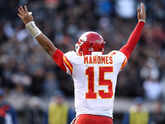 Patrick Mahomes, quarterback for the Kansas City Chiefs, is in his second NFL season.