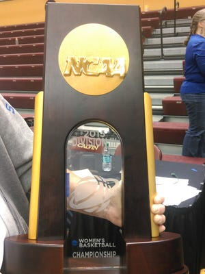 The Division III national championship trophy now resides on the campus of Thomas More College.