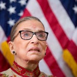 U.S. Supreme Court Justice Ruth Bader Ginsburg at the  annual Women's History Month reception in Washington, D.C.