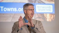 Chuck Marohn, the president and founder of Strong Towns, kicked off CivicCon on Tuesday.
