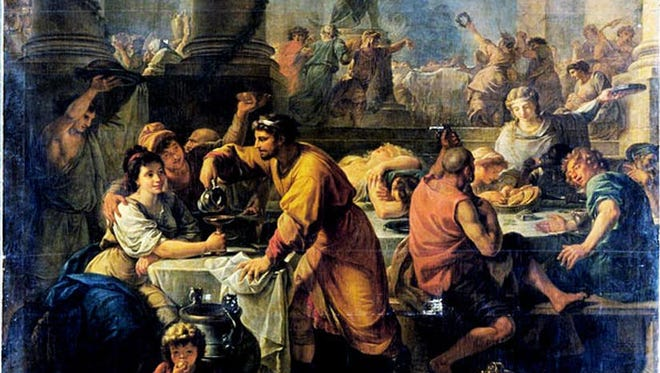 Saturnalia, was a rowdy harvest festival that marked the winter solstice—the return of the sun—and honored Saturn, the god of sowing.