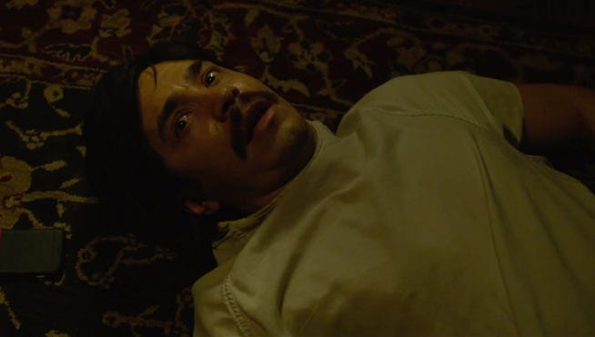 "Justin Long in a scene from ""Tusk."""
