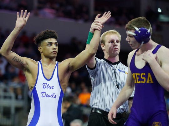 Just a year ago, Roman Bravo-Young was capping off an undefeated high school career in Arizona. Now, he's wrestling in the NCAA championships for Penn State.