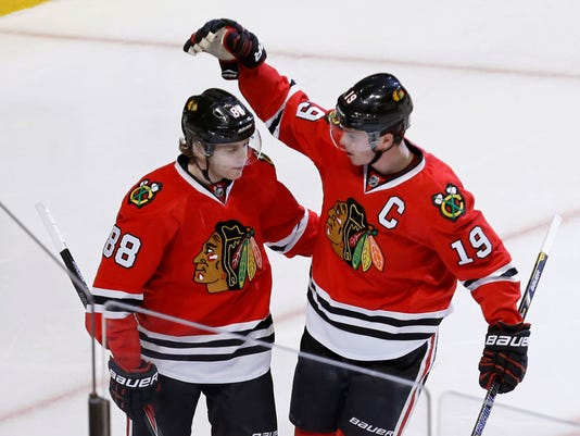 Blackhawks Toews Kane Hockey
