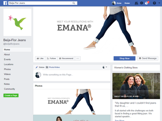 Emilie Whitaker, co-founder of Beija-Flor Jeans in Greenville, says she has relied on Facebook to spread the word about her small business for nearly a decade. Facebook announced today that it will bring a four-day training camp to Greenville in May aimed at helping small businesses like Whitaker's improve their digital strategies.