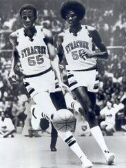 Syracuse Basketball, 1979-80. Co-Capts. Louis Orr (55)