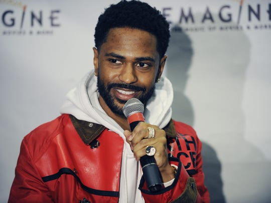 """Sean """"Big Sean"""" Anderson announced today that he will partner with Emagine Entertainment to open a theater in downtown Detroit. Big Sean surprised Detroit Public Schools high school students by introducing their free screening of """"Black Panther"""" Wednesday, February 28, 2018, in Royal Oak, Michigan."""