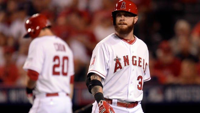 Los Angeles Angels left fielder Josh Hamilton in October.