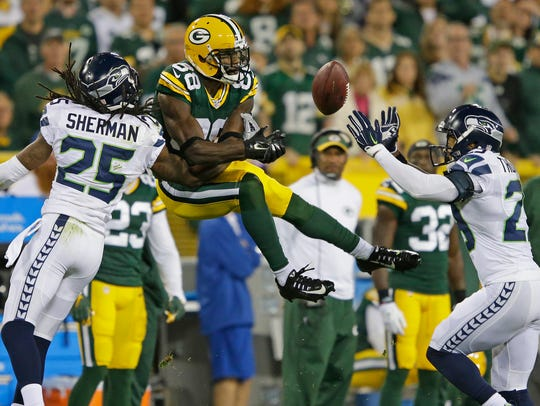 Green Bay Packers wide receiver Ty Montgomery (88)