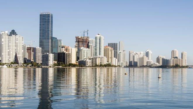 Morning skyline of Miami, Florida, USA