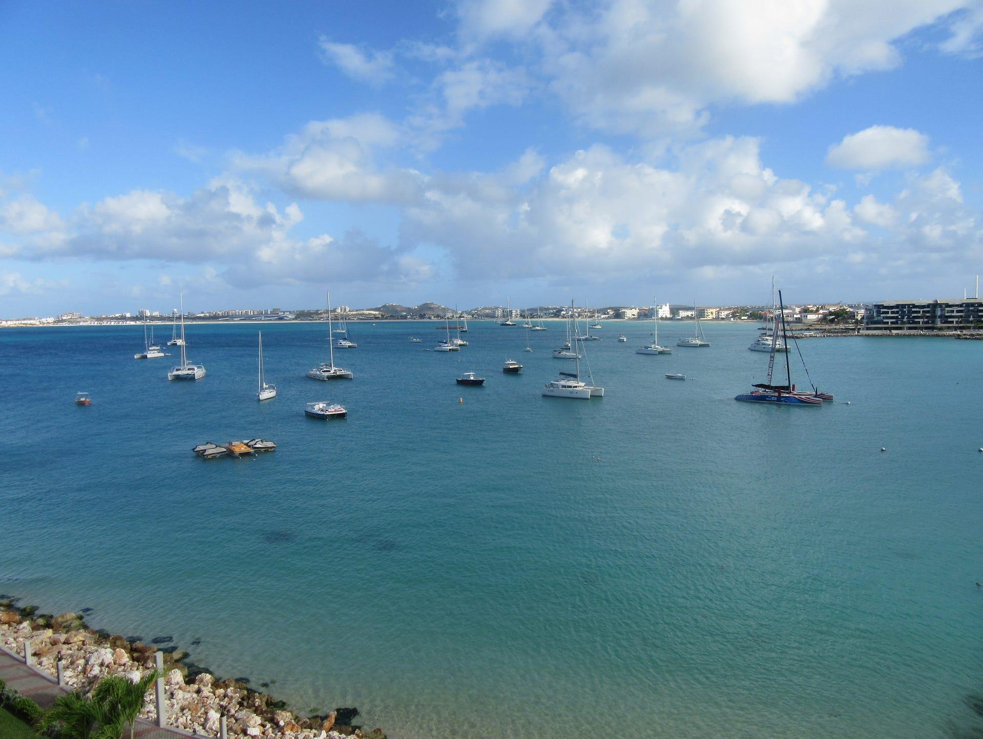 Ocean views from the Simpson Bay Resort in St. Maarten.