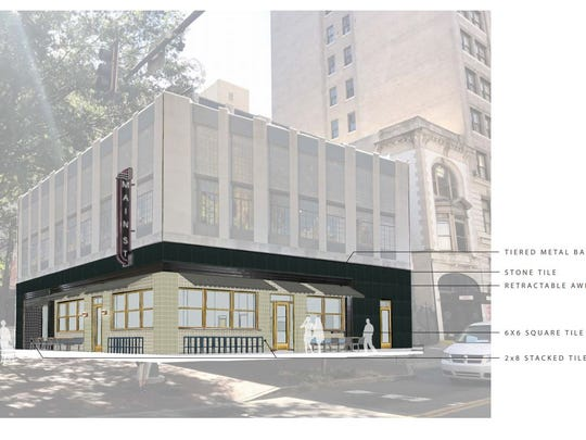 Hotel owner plans to renovate 1 S. Main to house restaurant, barber shop, speakeasy.