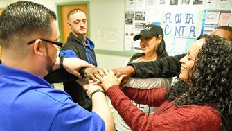 Recovery specialists at Eva's Village lead support groups that help others overcome their addictions.