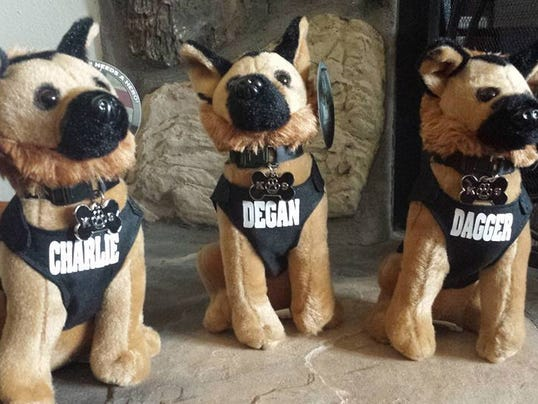 Franklin Police Department K9 stuffed animals