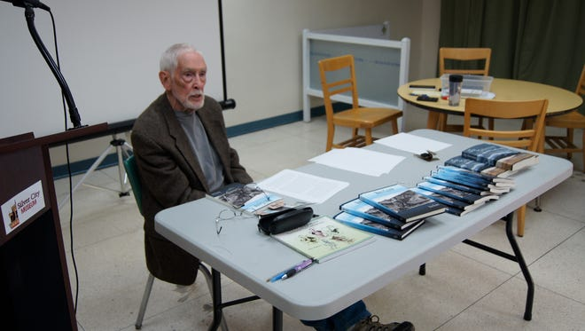 Silver City author Ron Hamm discussed his latest book on Saturday at the Silver City Museum annex. This is Hamm's third biography to be published.