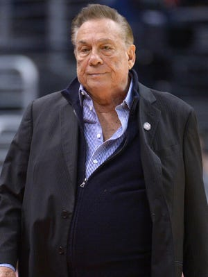 Sterling is a courtside fixture at Clippers home games.