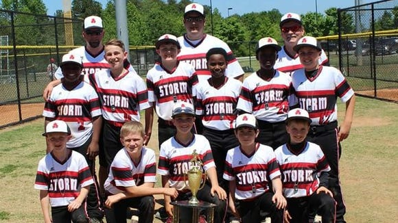 The Asheville Storm 10 and under baseball team won its age division in the Super NIT tournament played last weekend in Duncan, S.C.