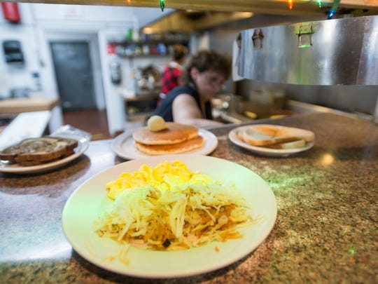 Food awaits hungry customers at Ever Open Cafe on N. College Avenue Friday, December 23, 2016. The Fort Collins diner serves up breakfast and lunch staples.