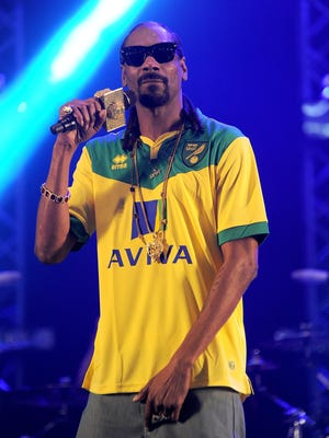 Snoop Dogg performs in England on May 23.