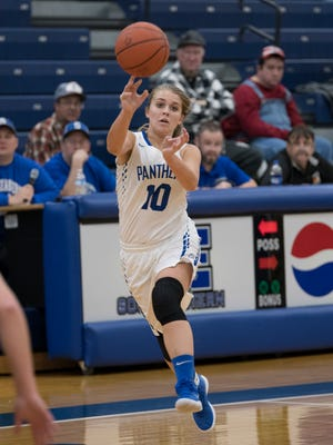Southeastern's McKinley Mitten scored 19 points in Tuesday's 79-47 win over Huntington in Scioto Valley Conference action. The senior went 4-for-8 from long range while shooting 7-for-15 overall.