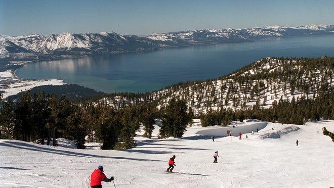 Heavenly Mountain Resort above south shore of Lake Tahoe.