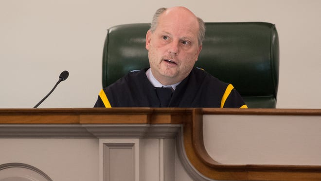 Chief Justice Leo E. Strine Jr., shown in December 2016, questioned how GPS monitoring was not an additional form of punishment.