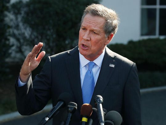 Ohio Governor John Kasich Speaks To Press After Meeting With President Trump At The White House