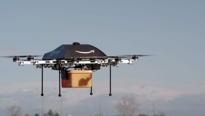 Amazon.com released this photo showing its Prime Air unmanned aircraft project currently in development.