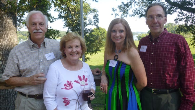 Among those attending the FLC's Summer Celebration at Riverview Family Farm were John and Margie Beasley with Mary Lewis and Mike Iven.