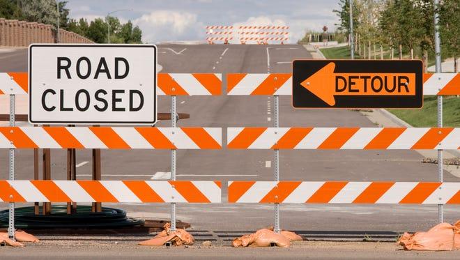 A road closure.