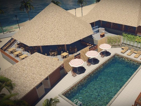 A rendering of the pool area at the forthcoming Boathouse