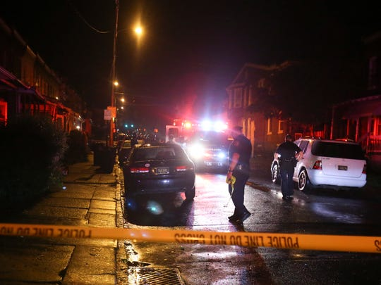 Wilmington police investigate a shooting on the 100 block of E 24th Street reported shortly before 2 a.m. Wednesday.